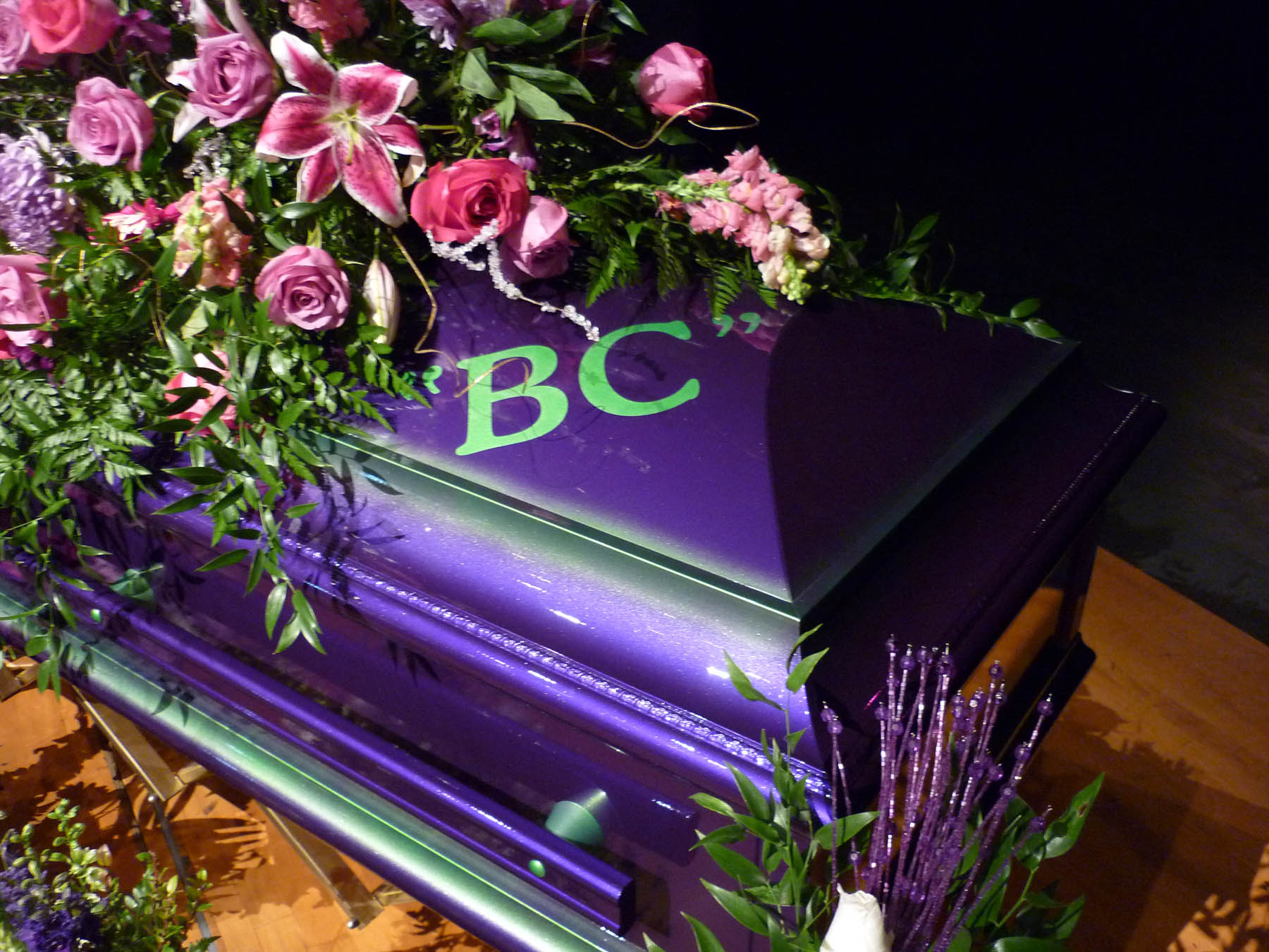 BC's Custom painted casket