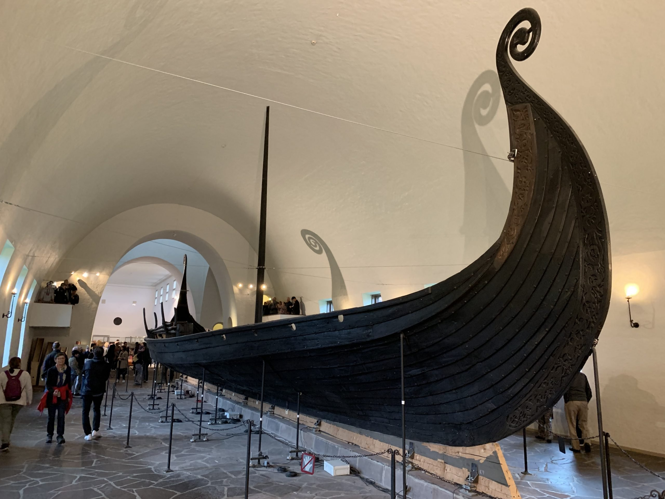 The Oseberg Burial Ship in the Viking Ship Museum, Oslo, Norway.